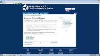 Open Source ILS - Evergreen