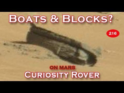 Boat Frame Found Among Building Blocks & Rubble On Mars?