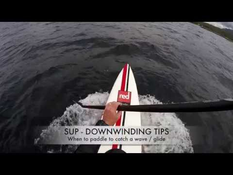 SUP Downwiding - When to paddle to catch a glide?