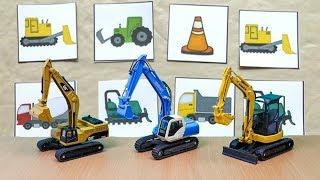 Construction Vehicles Game - Excavator , Wheel loader, Truck For kids
