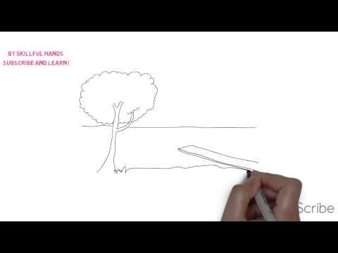 Видео как нарисовать речку