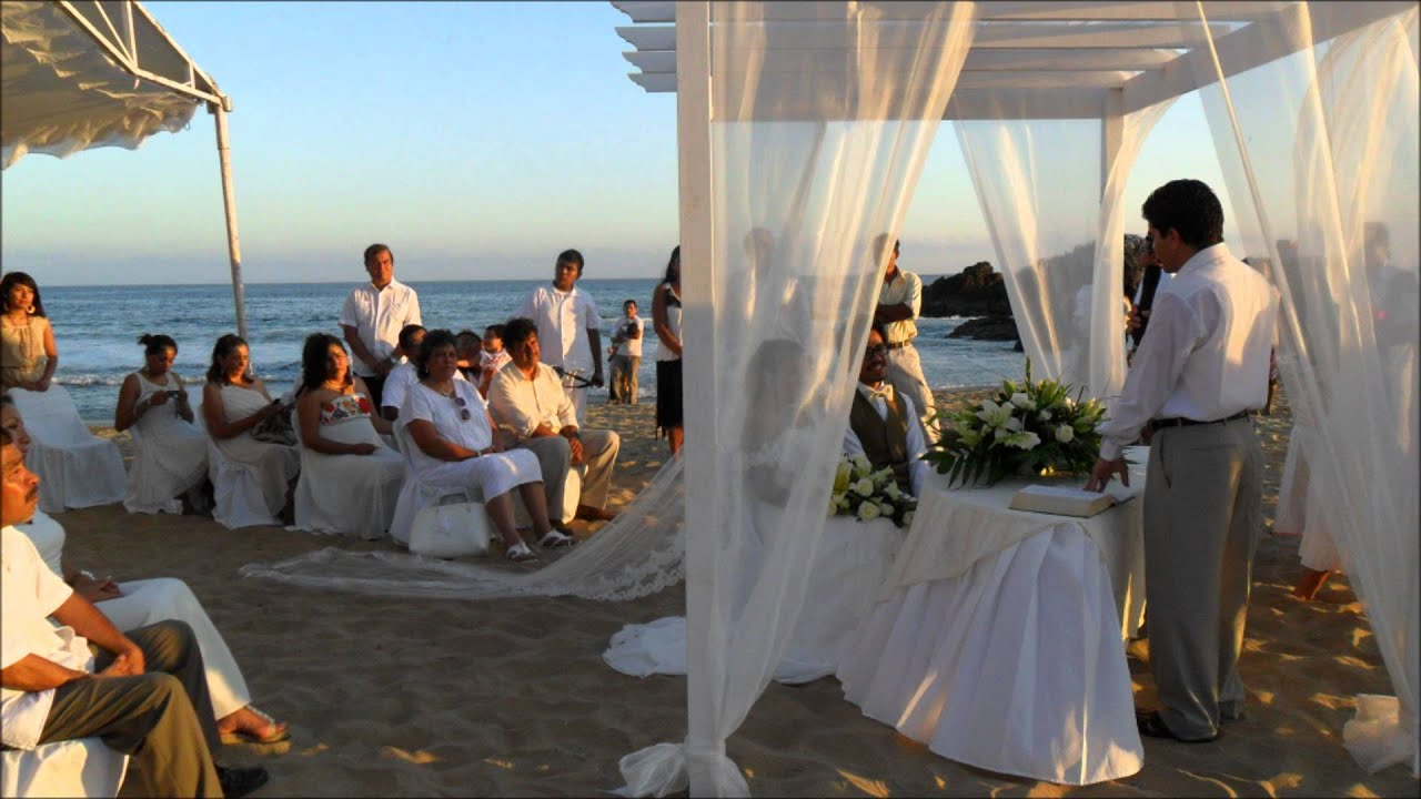 Matrimonio Simbolico En La Playa : Boda en la playa febrero youtube