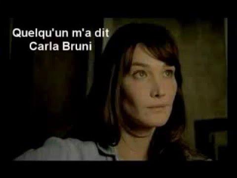 Quelqu'un m'a dit - Carla Bruni - Lyrics, Paroles, Translation, English French Learn with Songs