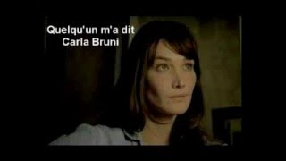 Quelqu 39 Un M 39 A Dit Carla Bruni Paroles Translation English French Learn With Songs