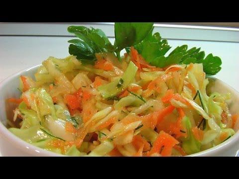 Салат из свежей капусты видео рецепт