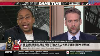First Take | Does Damian Lillard deserve First-Team All-NBA over Stephen Curry?