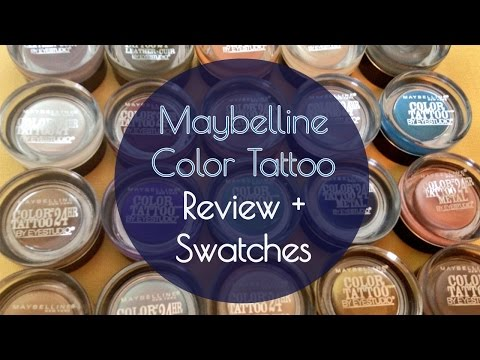 Maybelline Color Tattoo Cream Shadow Collection, Review + Swatches