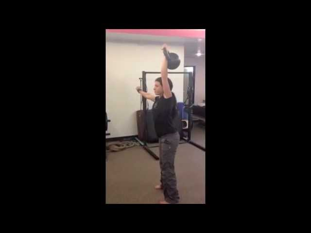 The Get Up with a 62 lb Kettlebell - Lauren Brooks at 116lbs