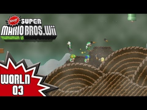 Newer Super Mario Bros. Wii - World 3 (1/2)