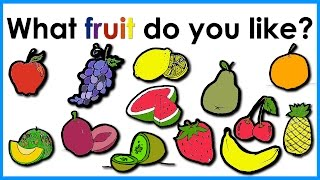 Fruit Vocabulary |  Easy English Practice | ESL.