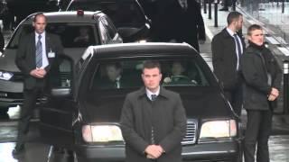 Кортеж Лаврова в Швейцарии / Sergey Lavrov arrived for a meeting with John Kerry