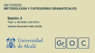 Jornadas GrOC de actualización gramatical - Sesión 3 (9 dic)