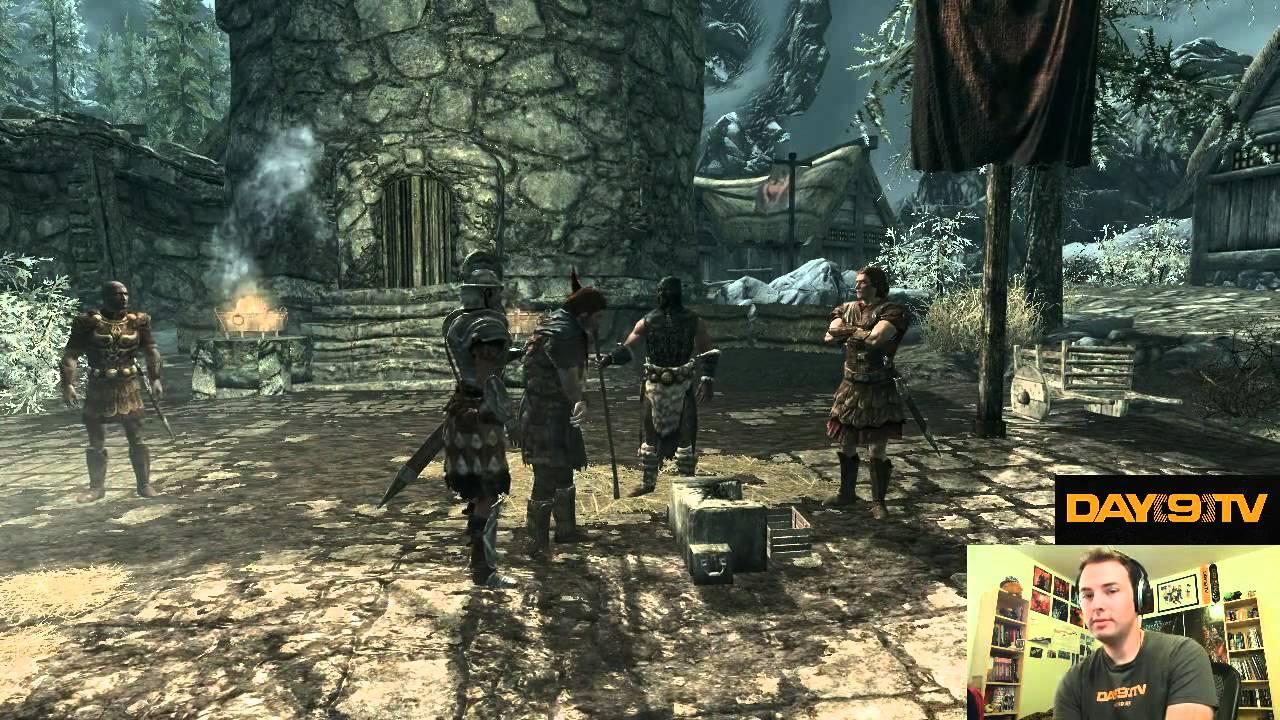 Day9 plays Elder Scrolls V: Skyrim - Part 1