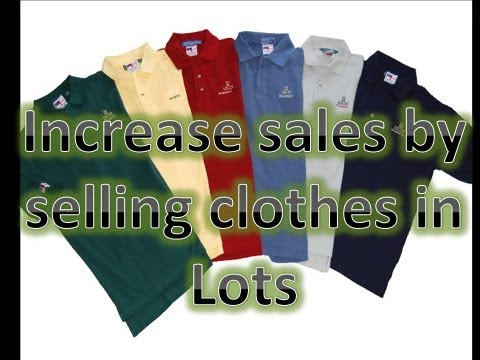Tip for selling clothing on Ebay-  Lot your items together- Increase Sales- Make More money Online!