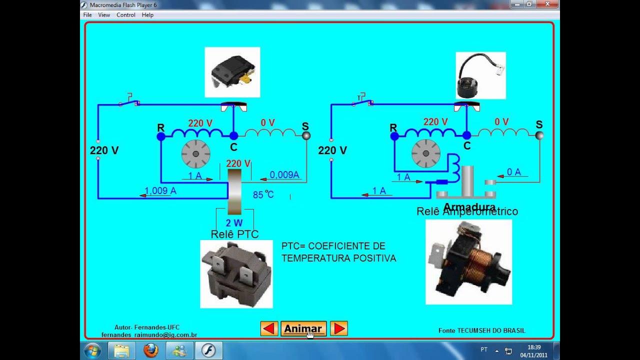 Wiring Diagram For A Compressor Auto Electrical Klixon Relay Rel U00e9 De Partida Ptc Youtube Tecumseh