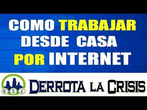 Como TRABAJAR DESDE CASA por Internet SIN INVERTIR NADA ! | Presentacion Derrota la Crisis Afiliados