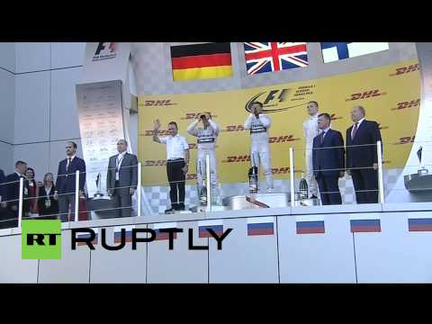 Russia: See Putin award Lewis Hamilton F1 Grand Prix trophy