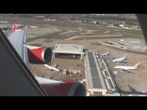 Virgin Atlantic B747 Takeoff London Heathrow