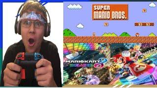 Super Mario Bros And Mario Kart 8 Gameplay on Switch!