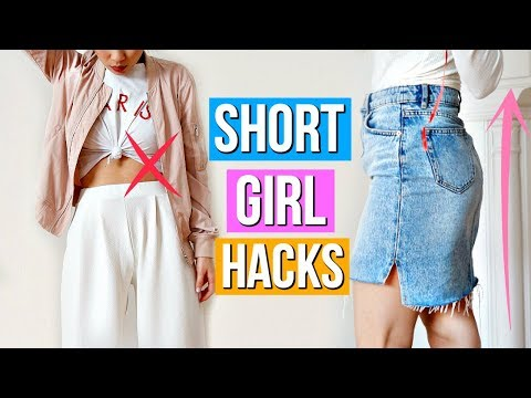 8 Clothing Hacks EVERY Short Girl Must Know! - YouTube