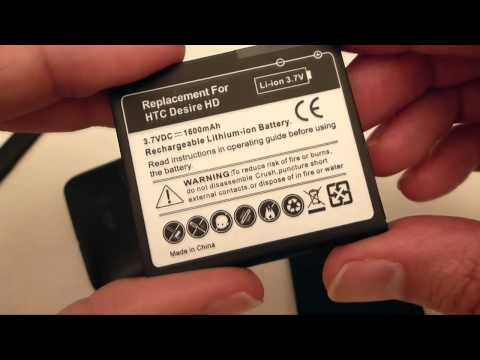 How to replace your HTC Desire HD battery with a heavy duty, long life alternative