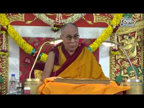 Tibetan: His Holiness the Dalai Lama's Speech on Dolgyal during Lamrim Teaching 2014