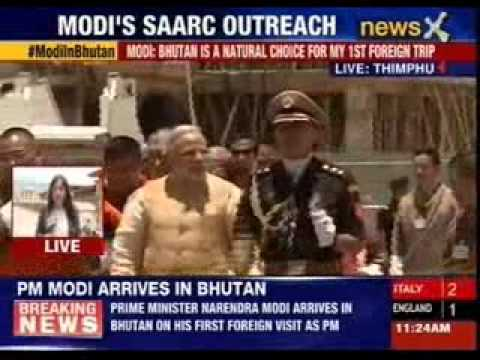 Narendra Modi arrives in Bhutan on first foreign trip as PM