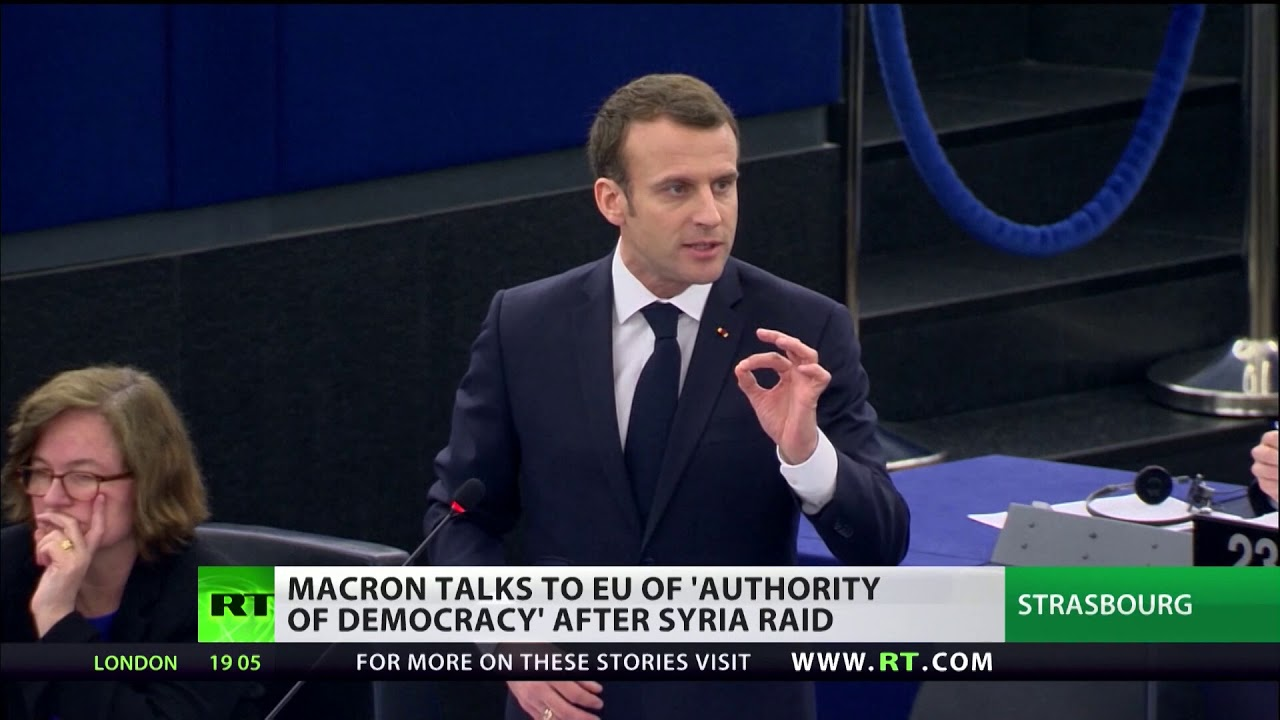 'Hands off' - MEPs protest French strikes in Syria