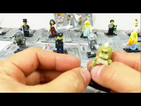 LEGO minifigures SERIES 9 bump codes 10 minifigs with BUMP CODES for