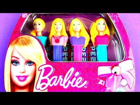 Barbie Handbag School Lunchbox Carry Case Barbie Doll Figure PEZ Candy + Toy Surprise Egg FluffyJet