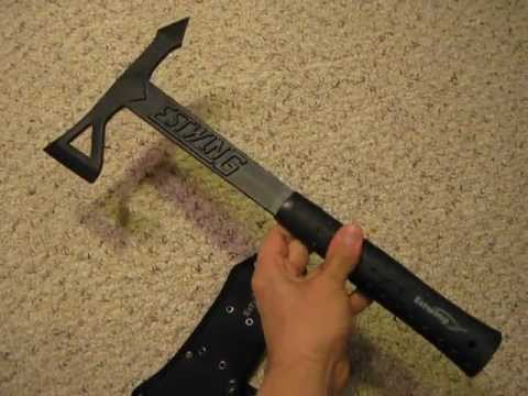 New Estwing Black Eagle Tactical Spike Tomahawk Axe Youtube