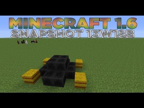 MINECRAFT 1.6 - SNAPSHOT 13W18B - BLOQUE DE CAAAARBON
