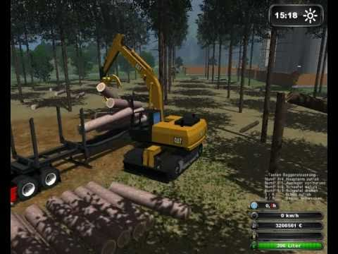 Holzfller extrem  TEIL 2  Landwirtschafts Simulator 2011 HD ( FORST Holz MOD)