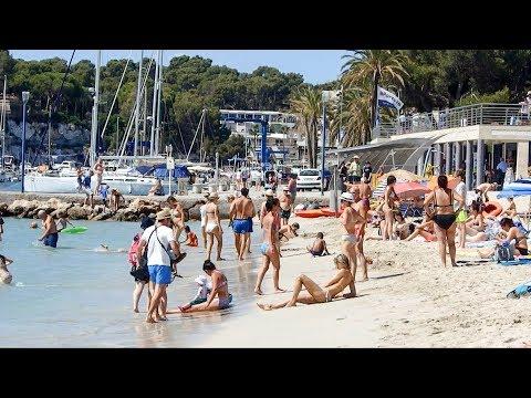 Porto Cristo Beach Mallorca Spain August 2019