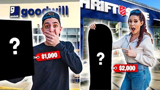 Who Can Find the MOST EXPENSIVE Item in a Thrift Store - Challenge