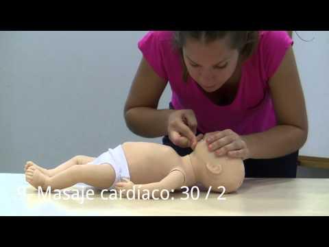 Reanimación cardiopulmonar lactante