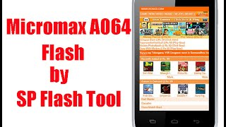 How To Flash Micromax Bolt A064