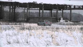 Winter slalom near Gerviskes with subaru Impreza, Forester, CRX, Golf, Audi. Part 3