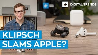 Apple AirPods vs. Klipsch T5   With Klipsch sound, is it even a contest?