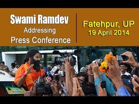 Swami Ramdev addressing Press Conference | Fatehpur Uttar Pradesh...