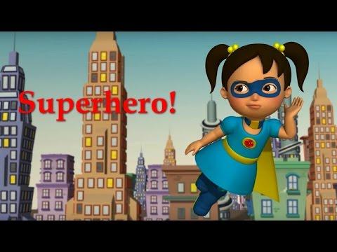 Английский язык для малышей - Мяу-Мяу - Супергерой (SuperHero ) - учим английский