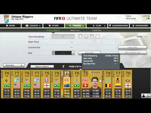 Fifa 13 Ultimate team ~ How to make coins