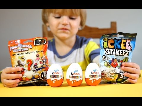 The Smurfs 2 from Kinder Surprise Eggs ! Power Rangers ! Ickee Stikeez !!!