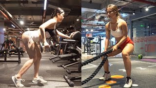 Hot Fitness Couple Workout In The Bodybuilders