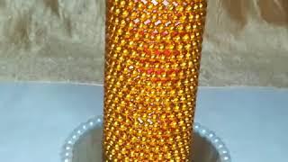 Reuse idea of tissue roll//diy flower vase
