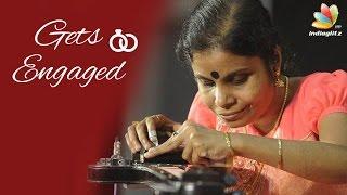 Bahubali Singer Vaikom Vijayalakshmi gets engaged | Tamil Celebrities Wedding News