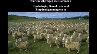 """""""Warum schweigen die Lämmer?"""" - Techniken des Meinungs- und Empörungsmanagements / Vortrag von Raine"""