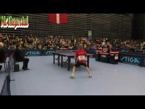 Table Tennis Danish Youth Championships 2016 - Daniel Simonsen Vs Peter Svenningsen -