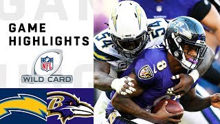 Chargers vs. Ravens Wild Card Round Highlights | NFL 2018 Playoffs