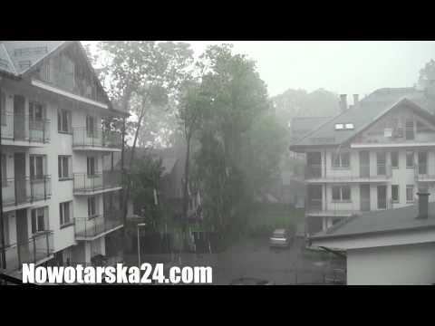 Burza Nawałnica Zakopane Lato 2014   Apartamenty Nowotarska24.com  Stara Polana